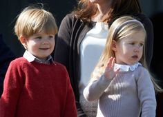 queensofias:  Queen Margrethe's Birthday Celebration, April 16, 2014-Prince Vincent and Princess Josephine