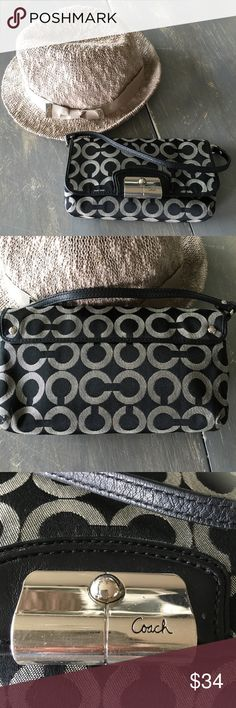 COACH wristlet COACH wristlet. Has magnetic closure. In good used condition. Coach Bags Clutches & Wristlets