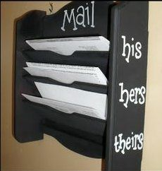 Just A Little Creativity: Confession Time- The Good, Bad, and Ugly Mail Holder Makeover Diy Hacks, Cleaning Hacks, Mail Holder, Elegant Homes, Organization Hacks, Organizing, Spring Cleaning, Being Ugly, Wood Crafts