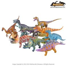 GeoWorld Jurassic Hunters  Realistic Dinosaur Toy Figure Collectible Models with Fact Cards Bundle 1 | Nothing But Dinosaurs