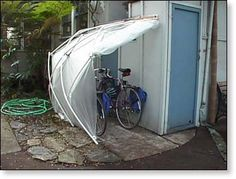 Affordable, Lightweight, Portable Compact Greenhouse Shed, Also Useful for Bike and Firewood Storage Bike Storage In Shed, Outdoor Bicycle Storage, Firewood Storage, Bike Shed, Storage Shed Plans, Garage Velo, Bike Shelter, Greenhouse Shed, Outdoor Privacy