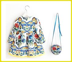 """OWL LONG SLEEVE DRESS W// RIBBONS BUTTON for 15-17/"""" CPK Cabbage Patch Kids"""