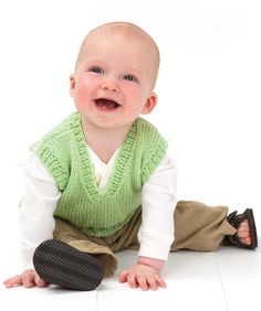 Baby vest. Free knitting pattern. Requires 2, 5oz balls of yarn - suggested is Red Heart Baby TLC
