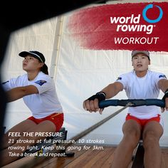 Try this indoor rowing workout with World Rowing. Rowing Workout, Indoor Rowing, Workouts, Take That, Gym, Baseball Cards, World, Fitness, Sports