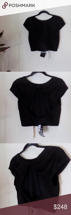 NWT SEXY Alice + Olivia Wrap Crop w Peekaboo Back The cutest sexiest top I've come across in a while. Too small for me, but don't let her get past you. Alice + Olivia Tops Crop Tops