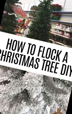 I've always loved the looked of flocked Christmas trees but they are so expensive so I decided to do it myself.It was really easy to do!#Christmas #Crafts #Flocking #Tips Flocked Christmas Trees Decorated 31+ DIY Tips For Flocking Your Christmas Tree | Christmas Crafts For Toddlers | 2020