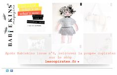 la poupée copirates sur babiekins by deborah beau Inspirational Blogs, Le Shop, Try Something New, Mood, Dolls, Ideas, Art Director, Baby Dolls, Puppet