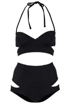 cut out black bikini