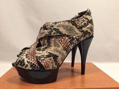 "Sexy Shoes BCBG Size 7.5B Georgina Pumps Snakeskin 5"" Heels Euro Size 37.5 #BCBGeneration #PumpsClassics"