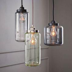 Vintage Hängeleuchte Industrie Hängelampe Pendelleuchte GlasDesign Deckenleuchte