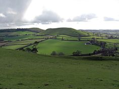 View from Cadbury Castle in Somerset, said to be King Arthur's Camelot