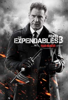Harrison Ford Expendables 3. I would love to see him have screen time with Mel Gibson as well as Sly, Arnold and rest of the cast. This is a dream of mine to see Harrison Ford and Mel Gibson in a movie together for years.