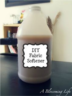 Homemade Natural Fabric Softener