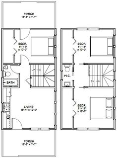 16x28 tiny house 16x28h1e 447 sq ft excellent for 16x30 house plans