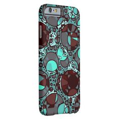 Neon Turquoise Burgundy Abstract Pattern Barely There iPhone 6 Case #iphone #phonecases also available for other devices