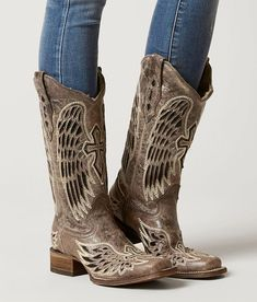 9bdca494ac4 Corral Wing   Cross Leather Western Boot - Women s Shoes in LD Brown