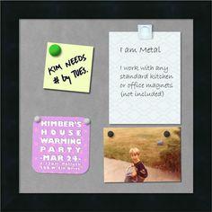 'Mezzanotte Magnetic Board 14 x 14-inch