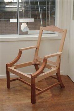 Gainsborough or library chair, frame