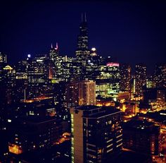 Night shot from K2 Apartments in Chicago!