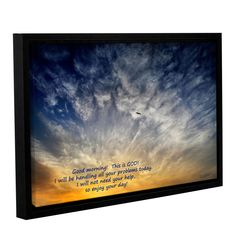 God by David Kyle Gallery-Wrapped Floater-Framed Canvas