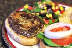 This homemade black bean burger recipe is made with red onion, panko, cilantro and more. It's delicious and easy.