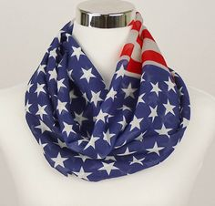 American Flag Infinity Scarf by+JuicyBows