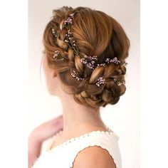 30 Top Wedding Updos For Medium Hair ❤ liked on Polyvore featuring accessories and hair accessories