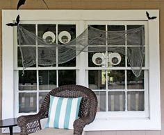 Halloween porch decorating ideas - Shabby Creek Cottage