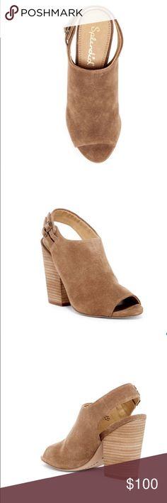 "ANTHROPOLOGIE SPLENDID KAYLEE SLINGBACK PUMP Beautiful wardrobe staple! Peep toe, solid vamp, leather construction, slingback with dual adjustable buckle closure, lightly padded footbed, stacked block heel. 4.25"" heel. Leather upper, manmade sole. Color: dark tan/ 01722220 Anthropologie Shoes Heels"