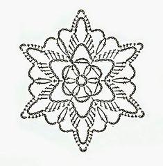 Crochet snowflake chart...