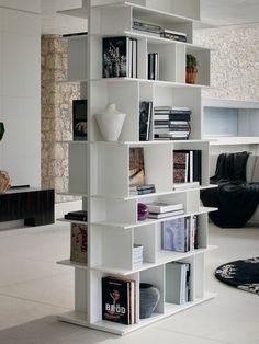 Libreria componibile con porta tv su ruote WALLY by Cattelan Italia