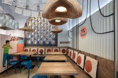 Burrito Loco, interior design by FormaFatal, mexican fastfood, Prague