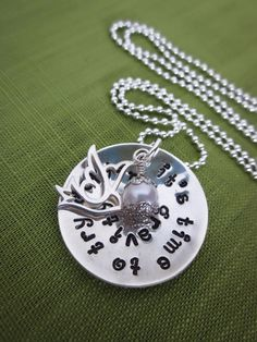 Defying Gravity Necklace with Dove Charm and Pearl by akaoriginals, $49.00 Someone should get this for me for Christmas