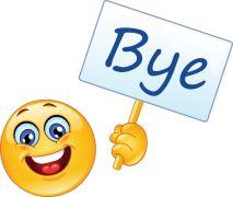 emoticon with sign - bye sticker