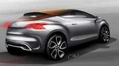 Citroen DS High Rider Concept - Design Sketch