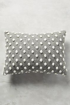 Woolen Pom Pillow #anthropologie in ivory/yellow