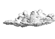 Black and white dashed style sketch, line art, drawing with pen and ink. Black Pen Drawing, Cloud Drawing, Sketch Cloud, Black And White Clouds, Advanced Higher Art, Cloud Tattoo, Black And White Sketches, Ink Pen Drawings, Steampunk