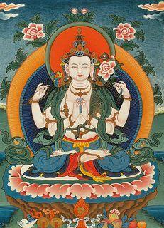 What Buddha is that? Avalokitesvara The Dalai Lama is the reincarnation of this Buddha of infinite compassion. Buddhist Meditation, Buddha Buddhism, Buddha Art, Tibetan Buddhism, Buddha Head, Amaterasu, Tatto Old, Vajrayana Buddhism, Thangka Painting