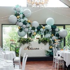 Another outstanding christening set up by Balloons by Boutique Balloons Store.melbourne Photography… - Decoration For Home Balloon Arch, Balloon Garland, Balloon Decorations, Birthday Decorations, Wedding Decorations, Balloon Ideas, Balloon Columns, Baby Shower Balloons, Baby Shower Themes