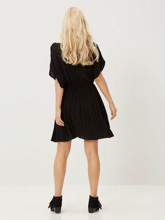 SHORT SLEEVED DRESS, Black