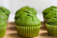 Spinach Muffins (with the help of mashed banana and cinnamon, you can't even taste the spinach!).
