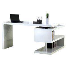 Atkinson Desk   Eurway.com White Desk With Bookcase, Modern White Desk,  White