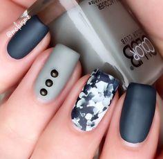 Dark floral design