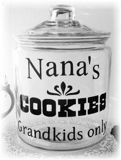 Nana Cookie Jar Decal 1gallon size
