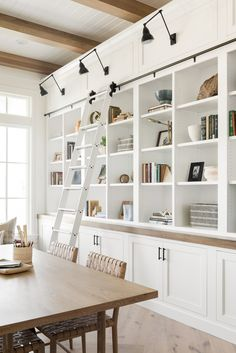 4 Lighting Ideas From Dream Home Makeover - Studio McGee Cool Lighting, Lighting Ideas, Makeover Studio, Swing Arm Wall Light, Billiard Lights, White Shiplap, Office Nook, Flex Room, Basement House