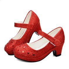 369c66f7e97 Dívky vysoké podpatky na podpatku pro dívky Princezna boty Dívka Dívka  Jarní Sequin kožené boty Děti Party svatební Glitter Crystal