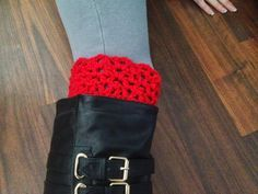 MandaLynn's Crochet Treasures : Crochet Lestat Inspired Lacy Boot Cuff 2