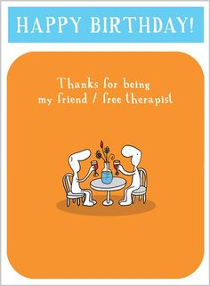 Harold's Planet » H1524 » Friend & Free Therapist - Clare Maddicott Publications - Greeting cards, gift wrap & stationery
