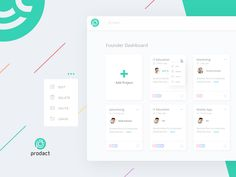 Founder Dashboard of Prodact - SaaS App by Decojent