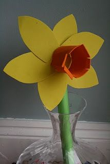 Daffodils. Use part of egg carton or TP roll for center.